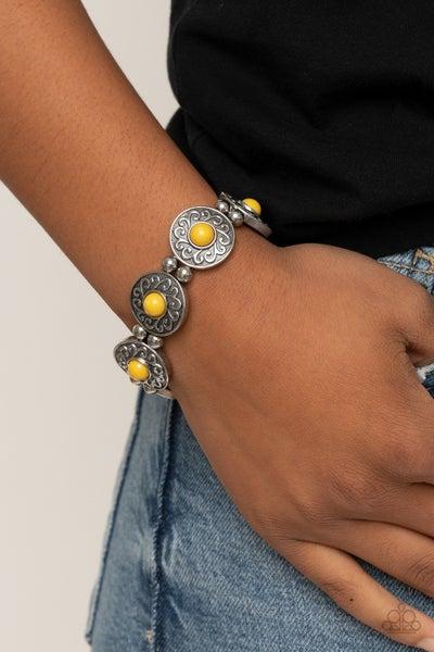 Flirty Finery Yellow Bracelet
