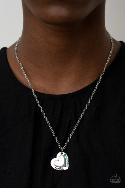 Happily Heartwarming - Blue Mother Necklace