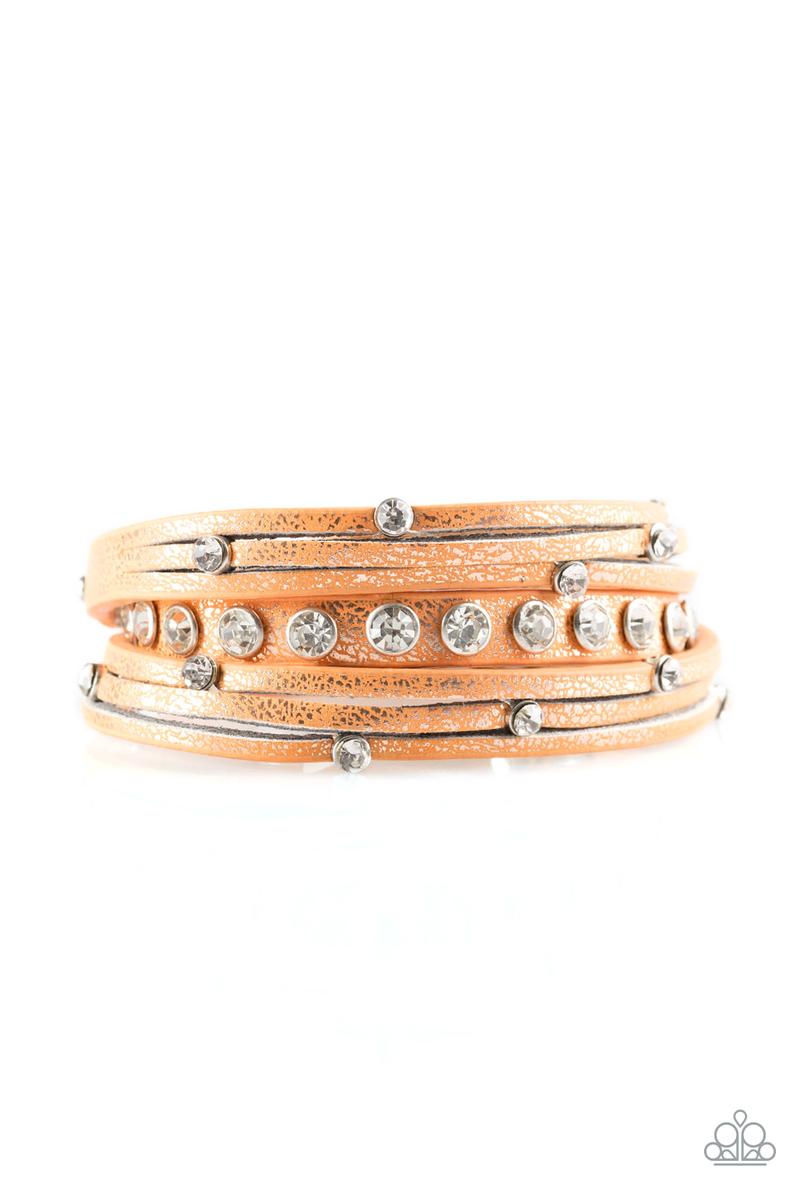 CATWALK It Off - Orange Bracelet