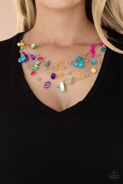 Prismatic Pebbles Multi Necklace - PREORDER