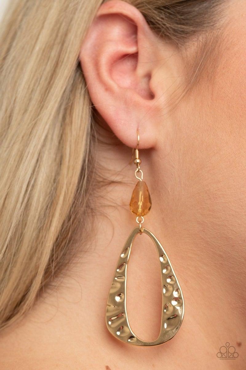 Enhanced Elegance Gold Earring