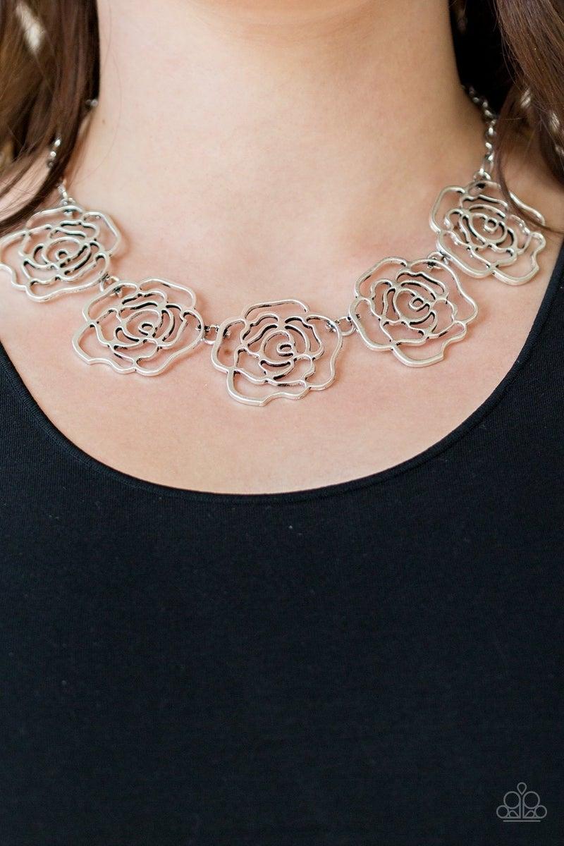 Budding Beauty Silver Necklace
