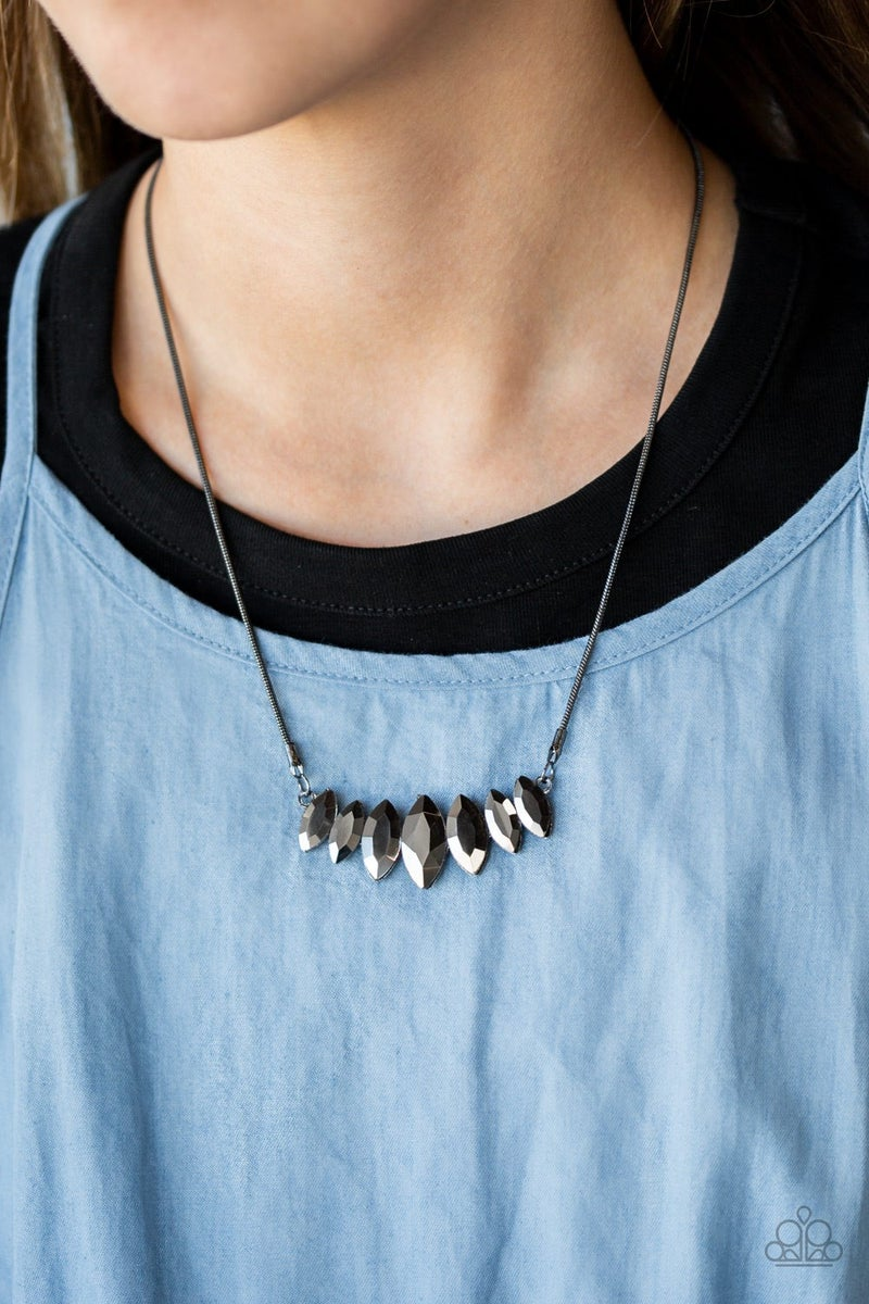 Leading Lady Gunmetal Necklace - Sparkle with Suzanna