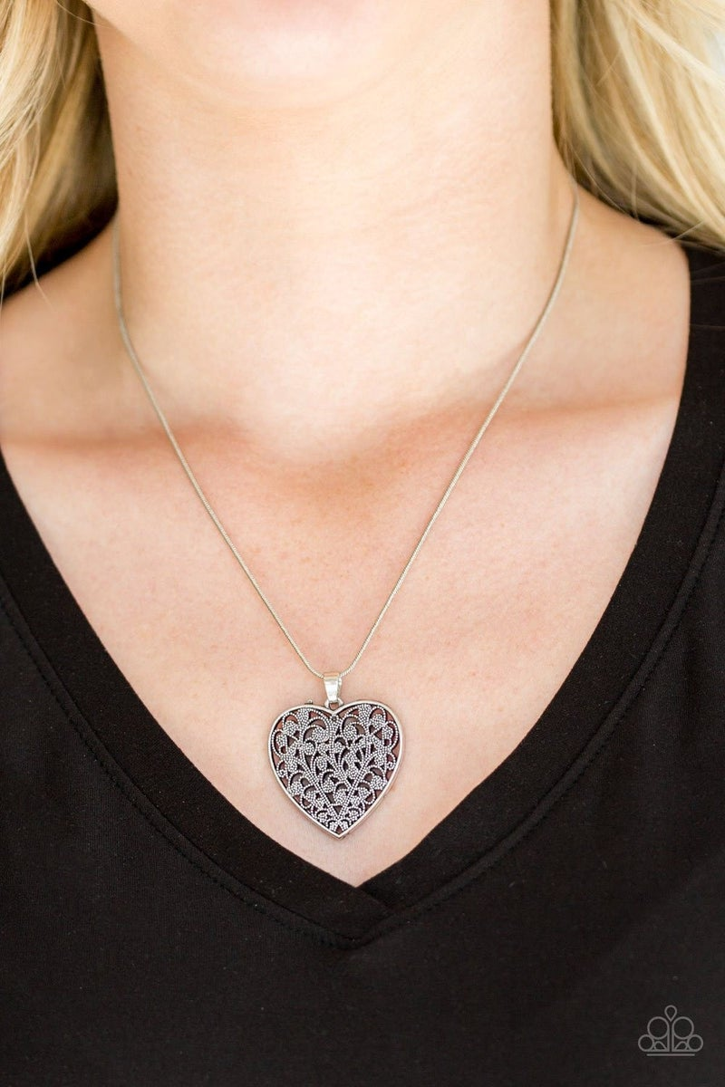 Look into Your Heart Silver Necklace