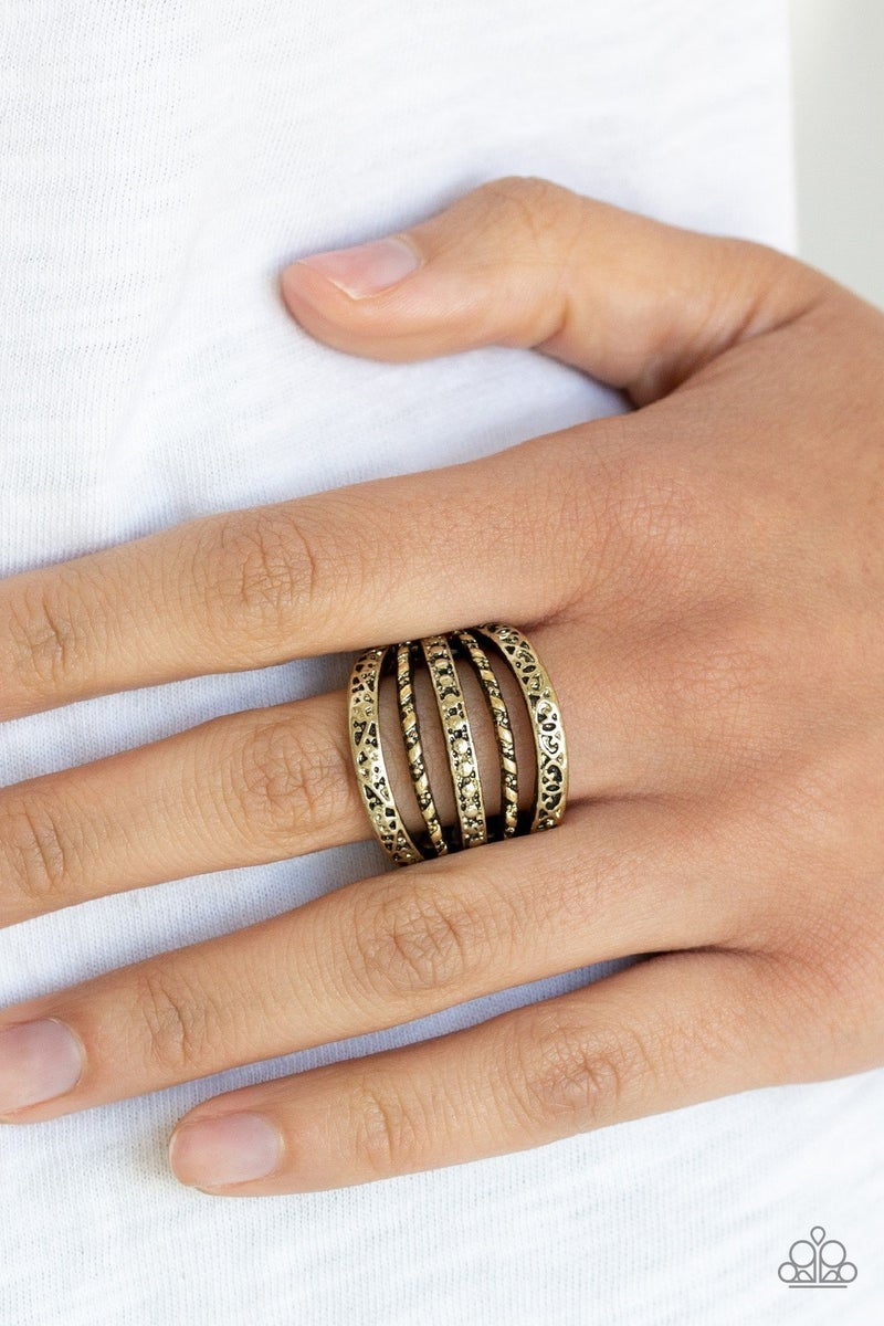 Textile Bliss Brass Ring - PREORDER
