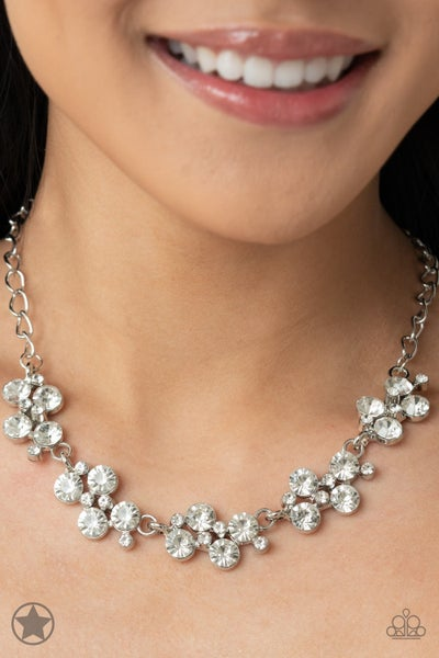 Paparazzi Hollywood Hills - White - Necklace & Earrings - Blockbuster Exclusive