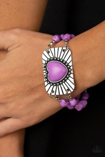 Sandstone Sweetheart Purple Bracelet
