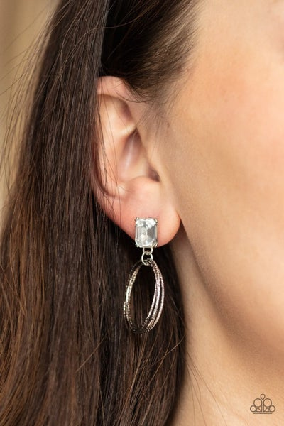 Prismatic Perfection White Earring