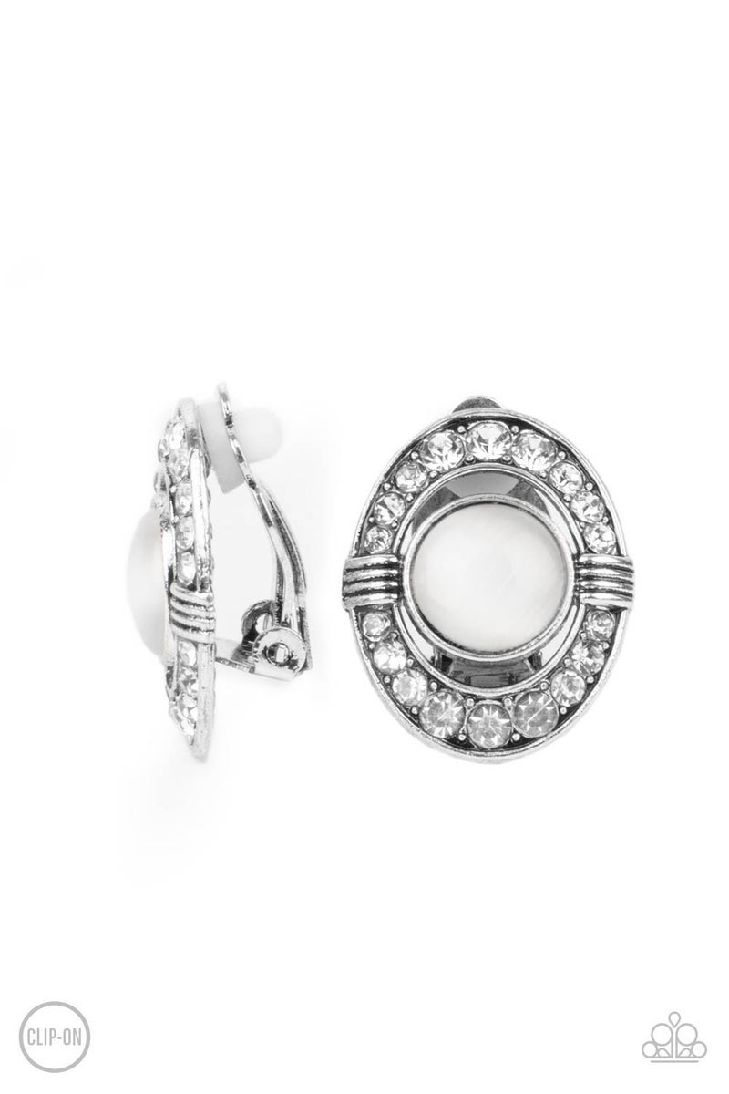 GLOW of Force White Clip-On Earrings - PREORDER