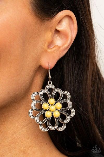 Dazzling Dewdrops Yellow Earring