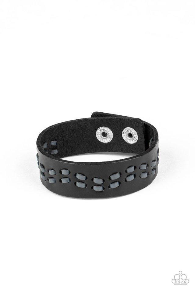 Leather is My Favorite Color Black Urban Bracelet