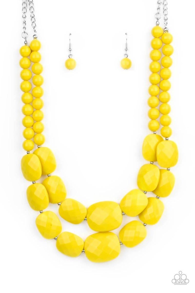 Resort Ready Yellow Necklace
