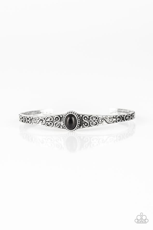 Make Your Own Path Black Bracelet - Sparkle with Suzanna