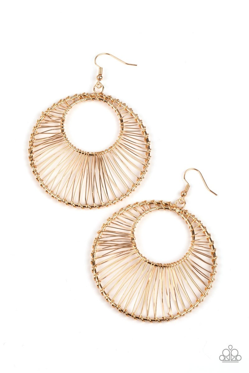 Artisan Applique Gold Earring
