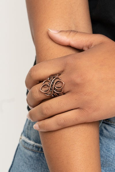 Regal Roundabout Copper Ring