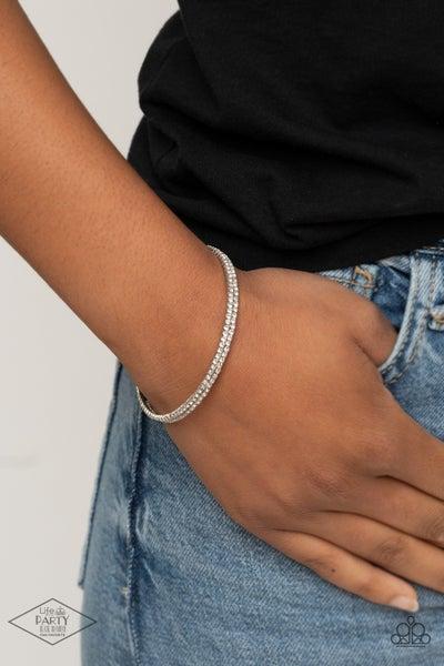 Sleek Sparkle White Bracelet