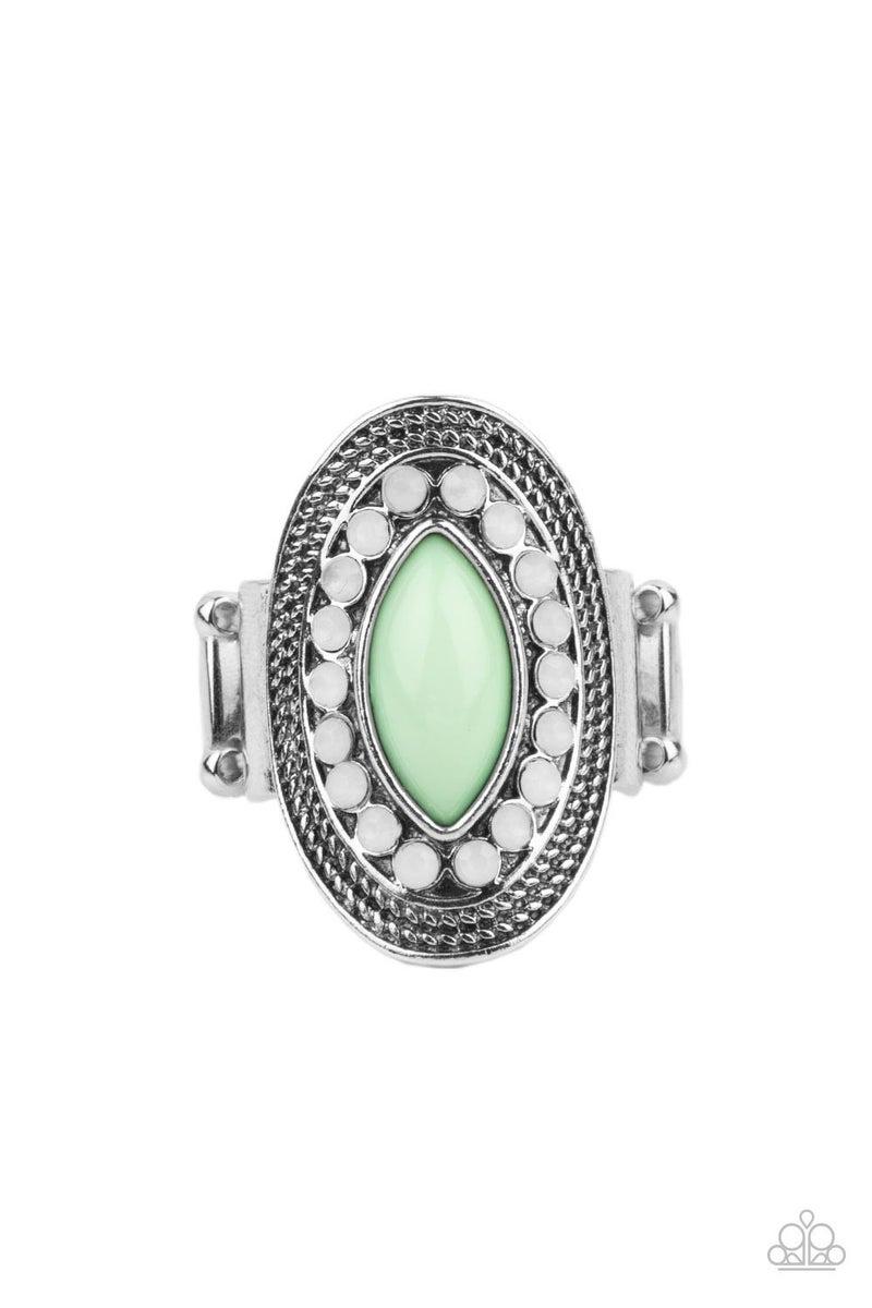 Tea Light Twinkle Green Ring