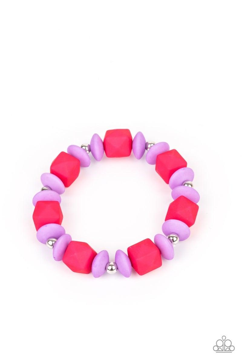 Starlet Shimmer Colorful Bead Bracelets - Set of 5