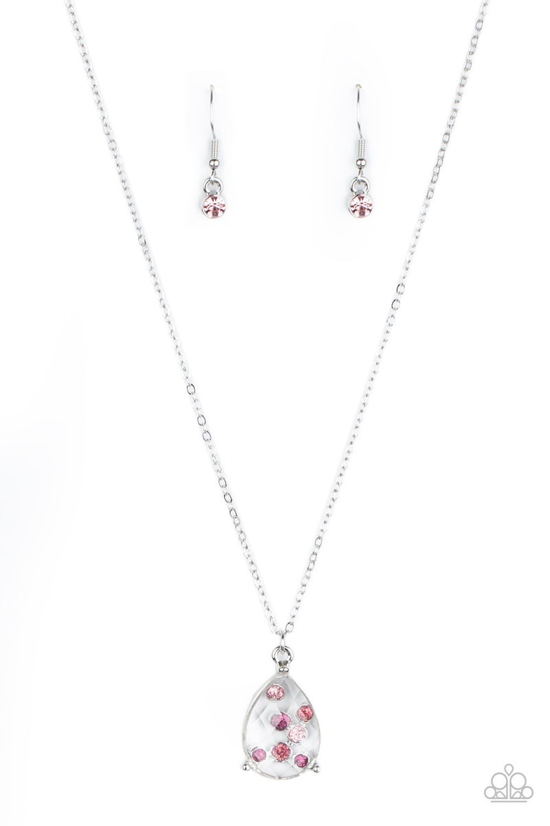 Stormy Shimmer Pink Necklace
