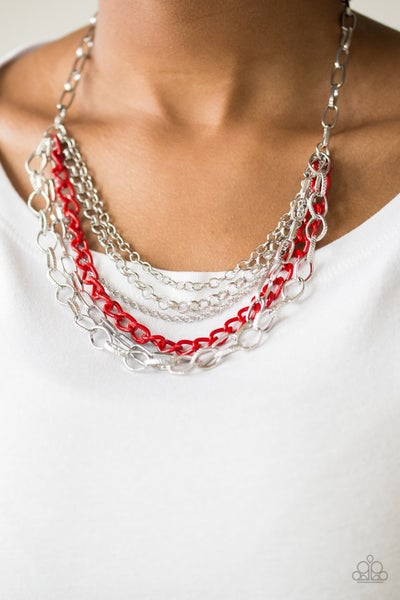 Color Bomb Red Necklace