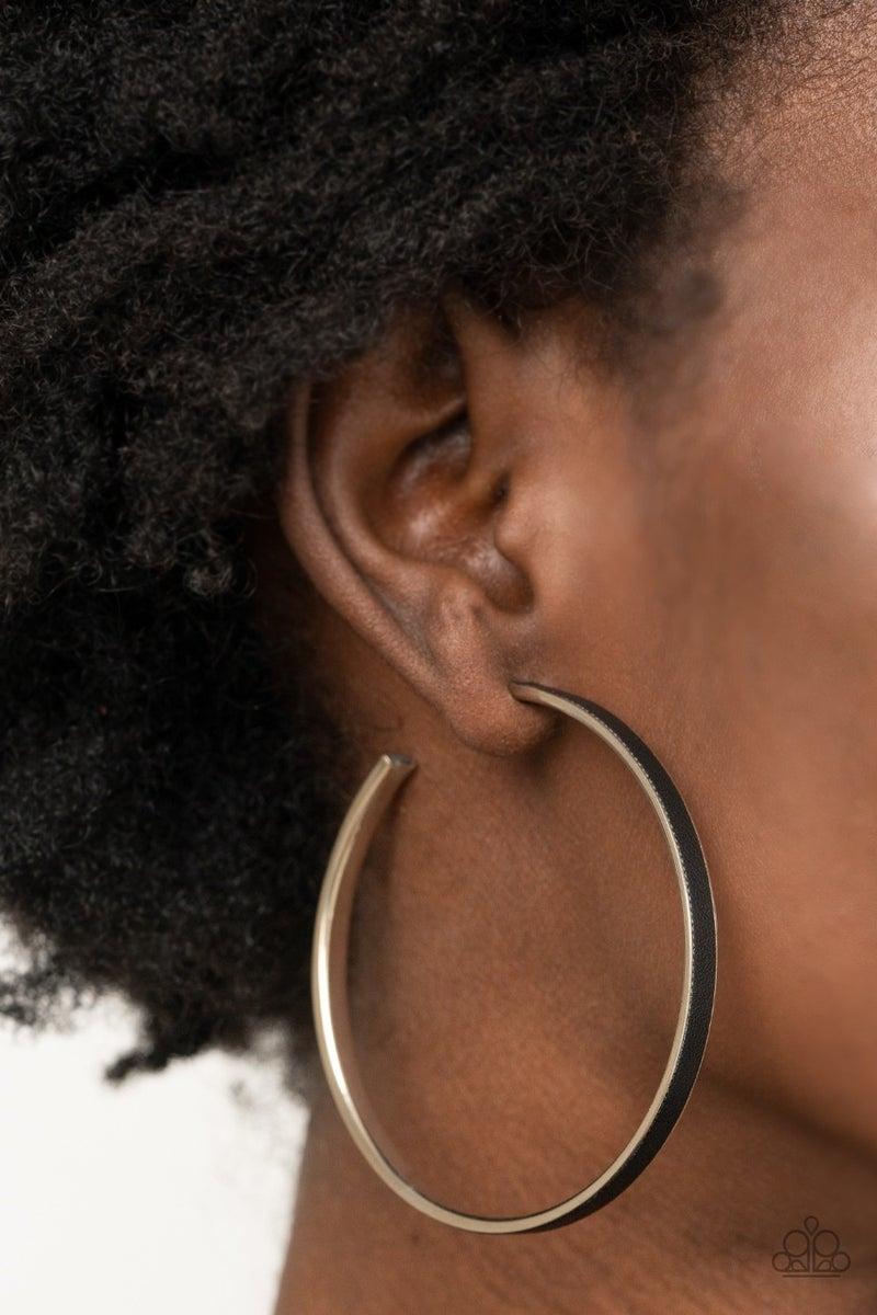 Fearless Flavor Black Earring