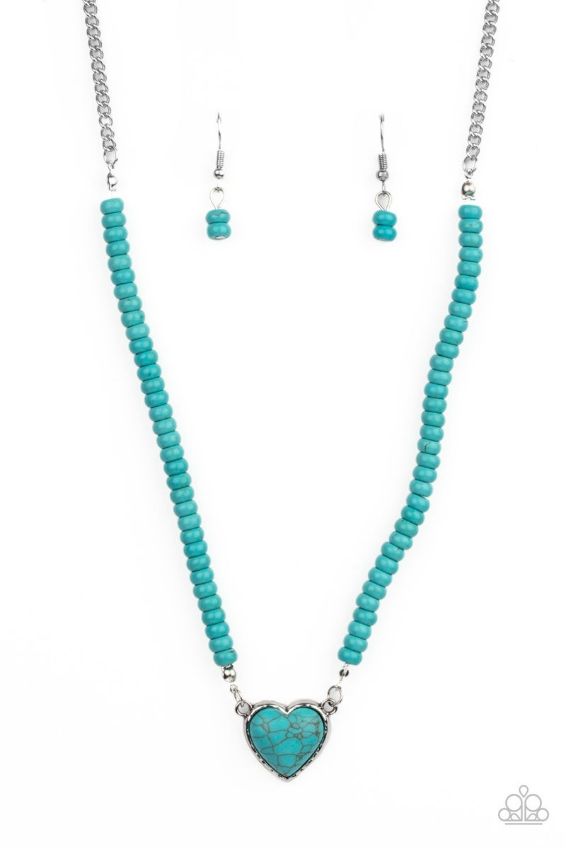 County Sweetheart Blue Necklace