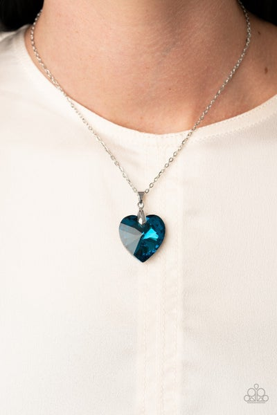 Love Hurts Blue Necklace