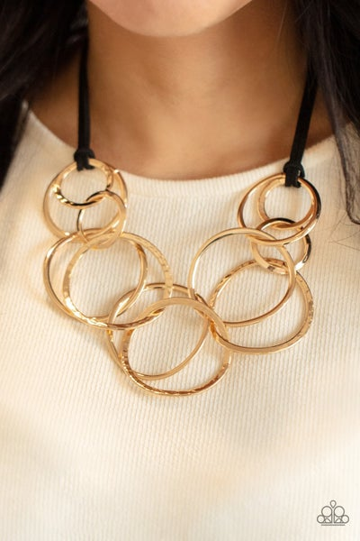 Spiraling Out of COUTURE Gold Necklace - PREORDER