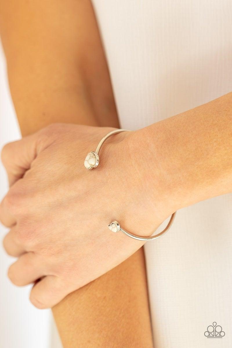 Romantically Rustic White Bracelet