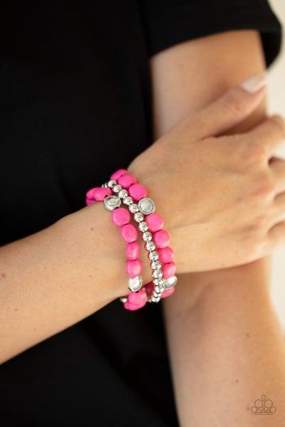 Desert Verbena Pink Bracelet