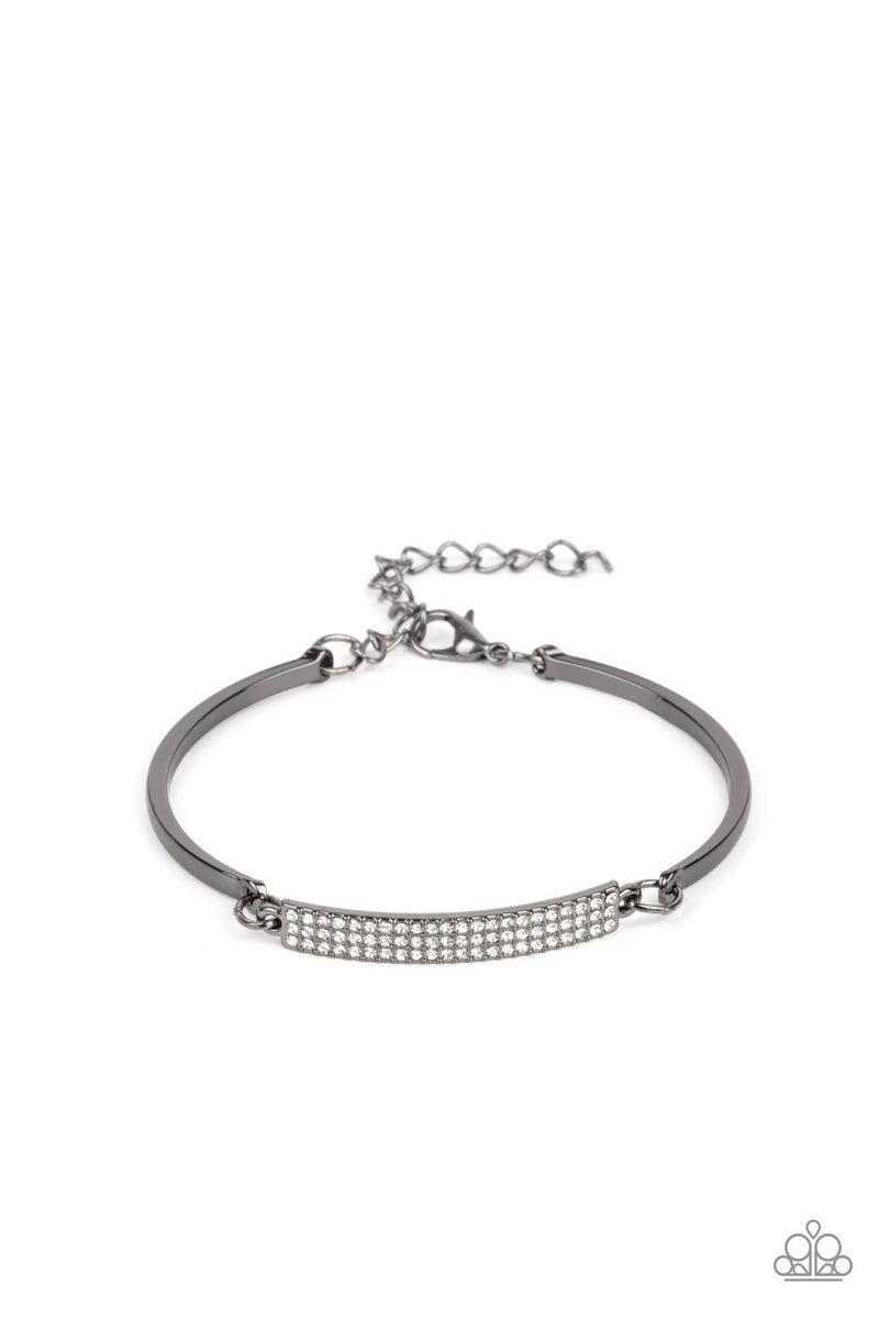 Showy Sparkle Black Bracelet
