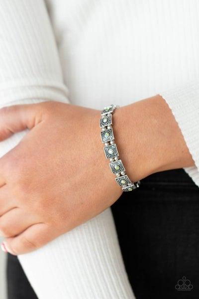 Cosmic Conquest Green Iridescent Bracelet