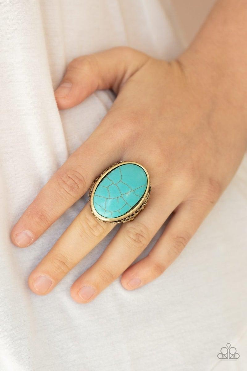 Stonehenge Garden Brass Ring