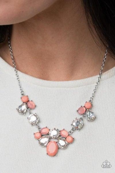 Ethereal Romance Orange Necklace