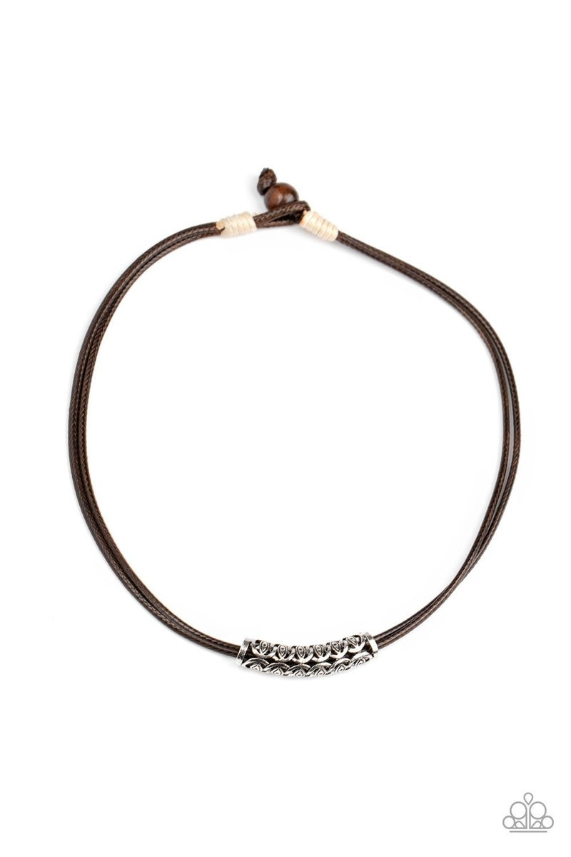 Ocean Rules Brown Urban Necklace - Sparkle with Suzanna