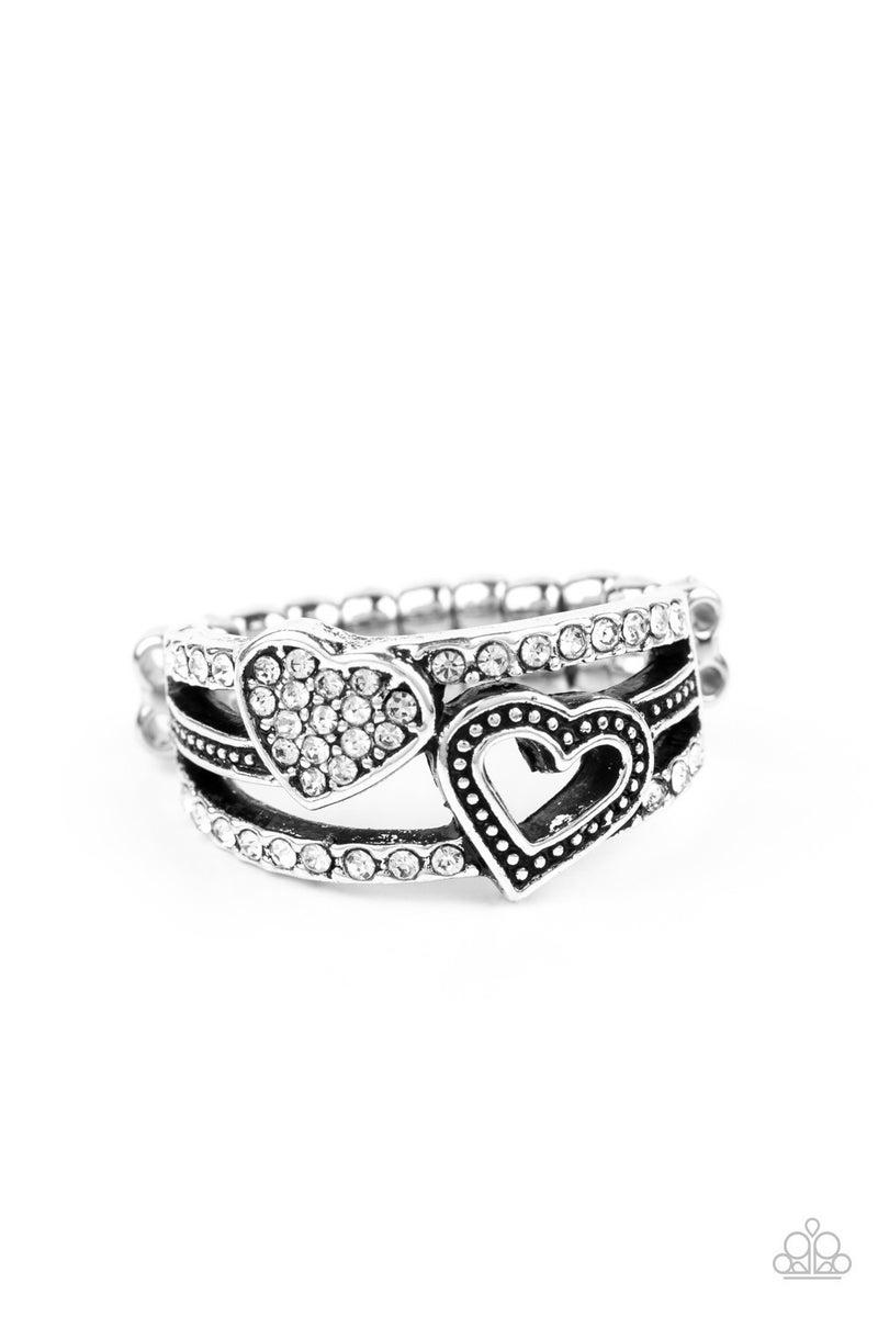 You Make My Heart Bling White Ring