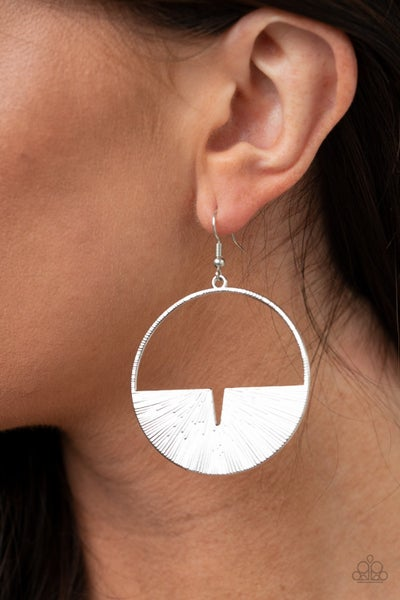 Reimagined Refinement Silver Earring