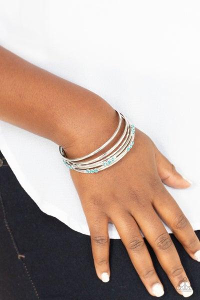 Stackable Sparkle Blue Bracelet