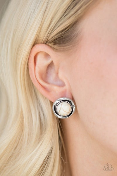 Out of This Galaxy White Earring