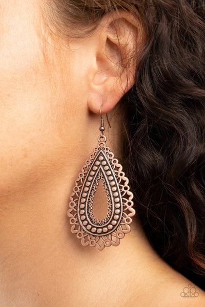 Texture Garden Copper Earring