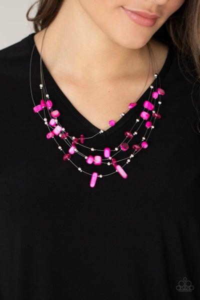 Prismatic Pebbles Pink Necklace