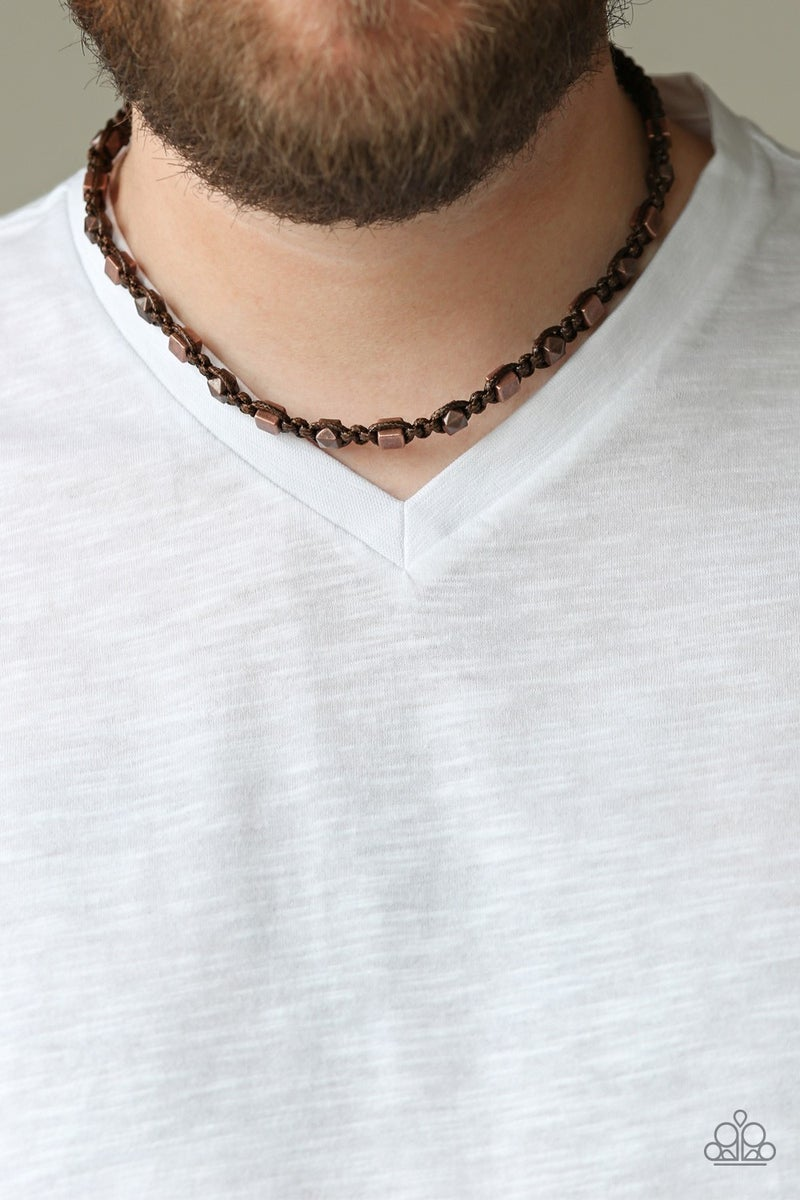 Grunge Rush Brown Men's Urban Necklace