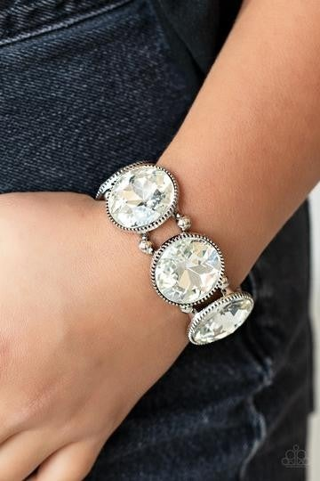 Powerhouse Hustle-White Bracelet - Life of the Party EXCLUSIVE Bracelet