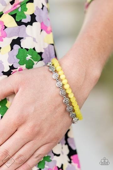 Dewy Dandelions Yellow Bracelet