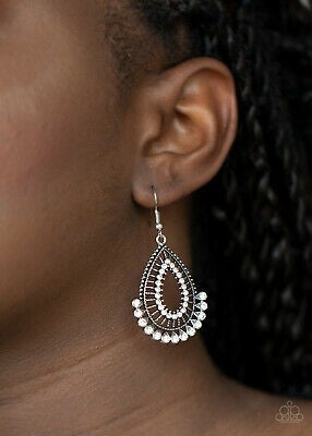 Castle Collection White Earring