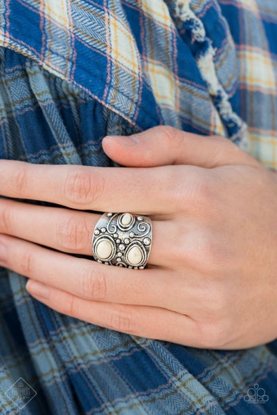 Modern Mountain Ranger White Ring