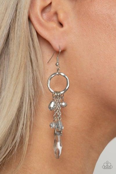 Glammed Up Goddess Silver Earring