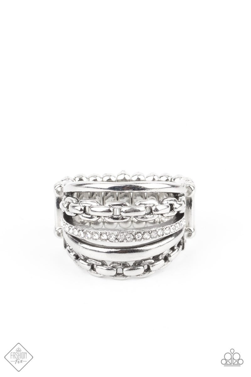 LINK Out Loud White Ring - Fashion Fix