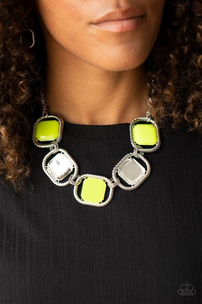 Pucker Up Yellow Necklace - Sparkle with Suzanna