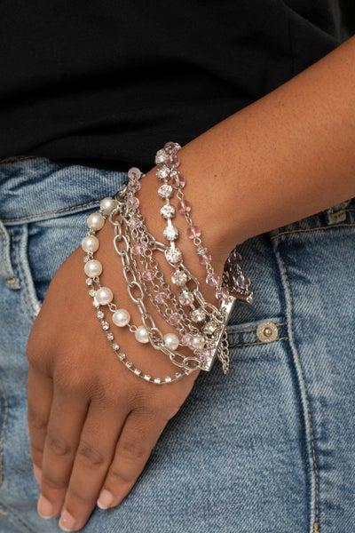 Heiress Hustle Pink Bracelet